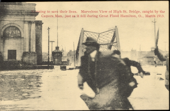Collapse of Main & High St Bridge, March 1913.  Courtesy Rob Wile collection.