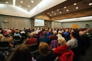 March's Family Stories symposium attracted over 240 people to the Wilks Conference center, including those shown here!  Photo courtesy of Jack Armstrong.