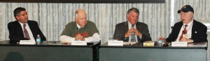 Morgan's Raid Panel (l-r):  David L. Mowery, Jim Blount, G. Michael Pratt, Lester Horwitz. 10.7.14.